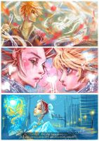 Axel + Roxas Facebook Graffiti by emilynguyenart