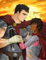 Guts and Casca by FallenMessiahX