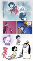 Little Marceline + Ice King Doodles by Chocoreaper