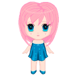 Pink hair girl animation by ReVercetti