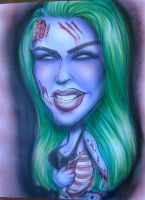 Zombie girl ribs by infiltr8arts
