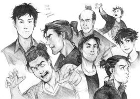 Male characters sketches by Razuri-the-Sleepless