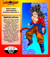Son Goku ASSJ4 Bio Card by MalikStudios