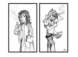 Severus and Sirius Bookends by wotchertonks7