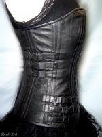 Selene Corset: Side view by EspinaDorsal