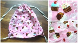 Cupcake Draw String Bag by kittykatklub1