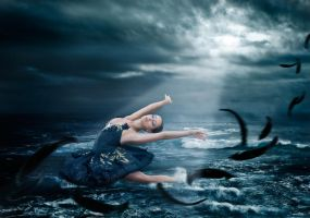 Strom at Sea by NellyGrace3103