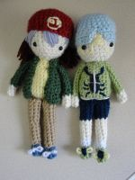 Rex and Weevil Amigurumi Dolls (Yu-gi-oh) by Sylemn