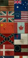 30 Distressed Flags by hassified