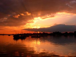 Boats At Sunset by blurryguy