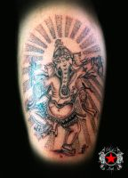 Ganesh tattoo by Robert-Greg-Voulgari