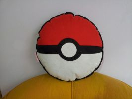 Handmade Anime Pokemon Pokeball Plush Pillow by RbitencourtUSA