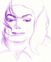Purple MJ Sketch by MoonwalkingHorse