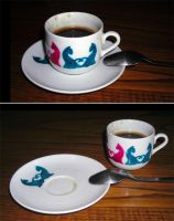 ::: cat's coffee cup by camaseiz