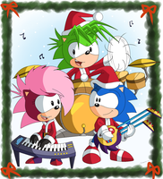 Sonic Undergrond sings Jingle Bells by Domestic-hedgehog