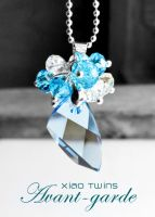 Swarovski Avant-garde Aquamarine Crystal Necklace by crystaland
