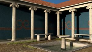 Peristyle Courtyard by Poofiemus