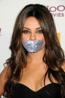Mila Kunis duct tape gagged by ikell