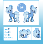 Northern Star ref sheet Commission for JigokuShii by SugarMoonPonyArtist