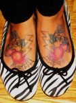 Mom and Dad Feet Tattoos by Pistol-Whipped-Sar