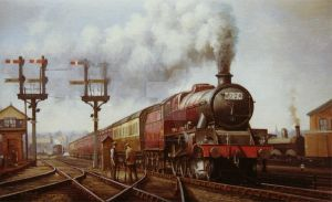 LMS Jubilee at Edge Hill by Artistjeffries