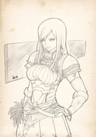 Erza Scarlet -Fairy Tail- by LNahuelART