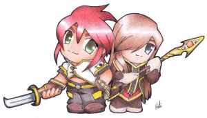 TotA - Luke and Tear Chibi by Hoti-chan