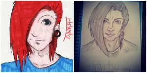 Before and After Hatori by MonteyRoo