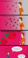 Why James twitches at the smell of roses by Cartoon-punk