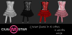 MStar Female Corset Dress by XNAMall