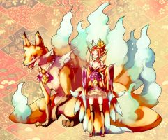 Work : Nine tails foxes by Sa-Dui