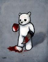 Bear with Knife Hand: Bad Idea by lukechueh