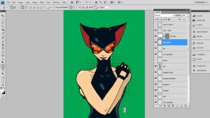 Catwoman coloring WIP by danielsingzon