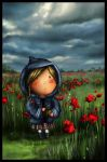girl with poppys by cremia