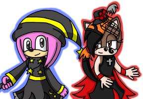 AT: A Witch and a Vampire by Katrins23