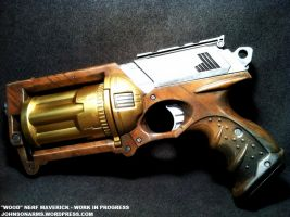 Faux Wood Steampunk Maverick WIP 1 by JohnsonArms