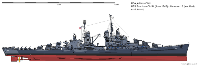 USS San Juan CL-54 (June 1942) - Measure 12 mod by ColosseumSB