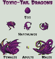 Toxic-Tail Dragons by isoldel