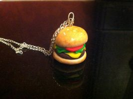 Burger Necklace by DownTheRabbitHoleUk