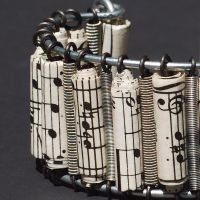 Guitar String Sheet Music Cuff by Tanith-Rohe