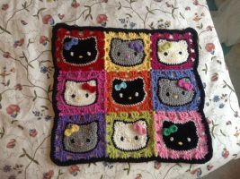 Hello Kitty kitty blanket by Blondy1999