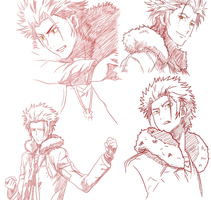 Mikoto Suoh the Red King by TaffyDesu