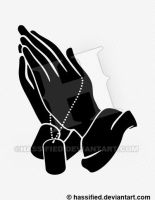 Praying Hands with Dogtags by hassified
