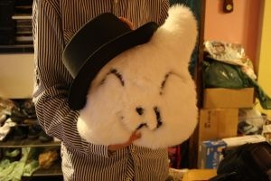 Mr. Pillow McCatFace + top hat by moordred-fangirl