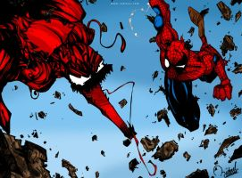 Carnage VS SpiderMan by ramova