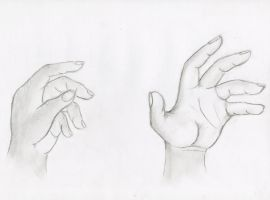 Hand Sketch by TheMoonMonkey