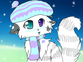 +Contest Entry+ Ah, what a wonderful snowy day. by Prinypie