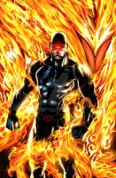 Cyclops with Phoenix force colored by jey2dworld