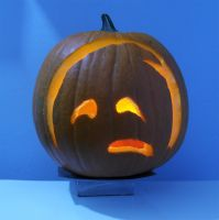 Strong Sad Pumpkin by DJCandiDout