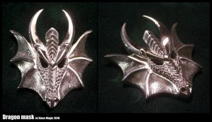 Sterling dragon mask pendant by Dans-Magic